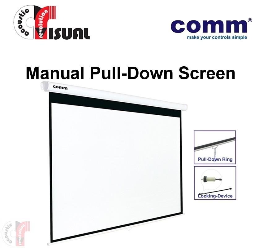 Comm Manual Pull-Down Wall Screen CP-MA70