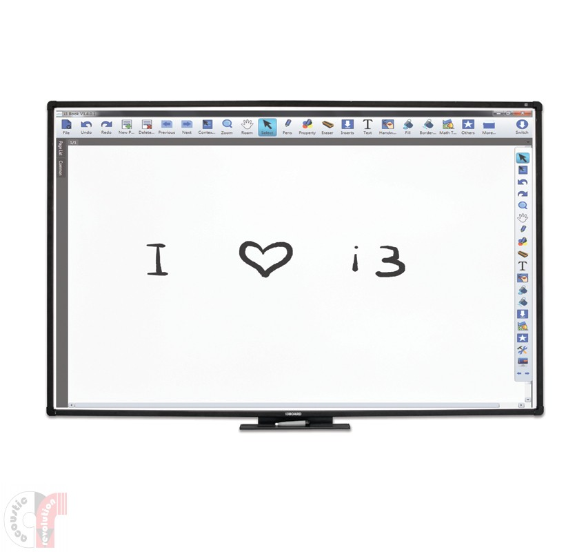 i3 8702T10 87-inch i3Board Interactive Whiteboard System