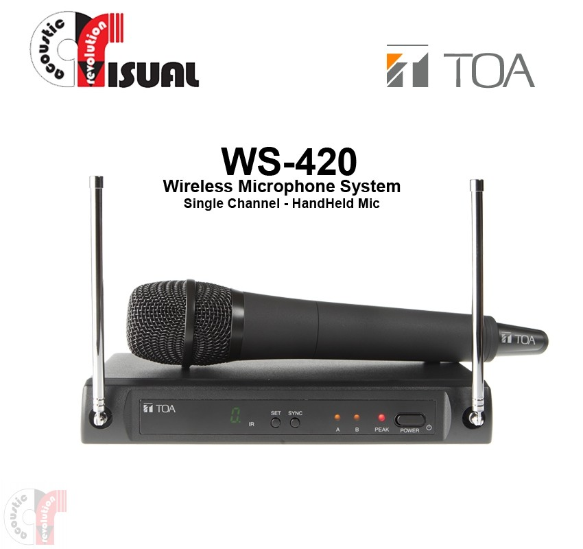 TOA Single Channel Microphone System WS-420