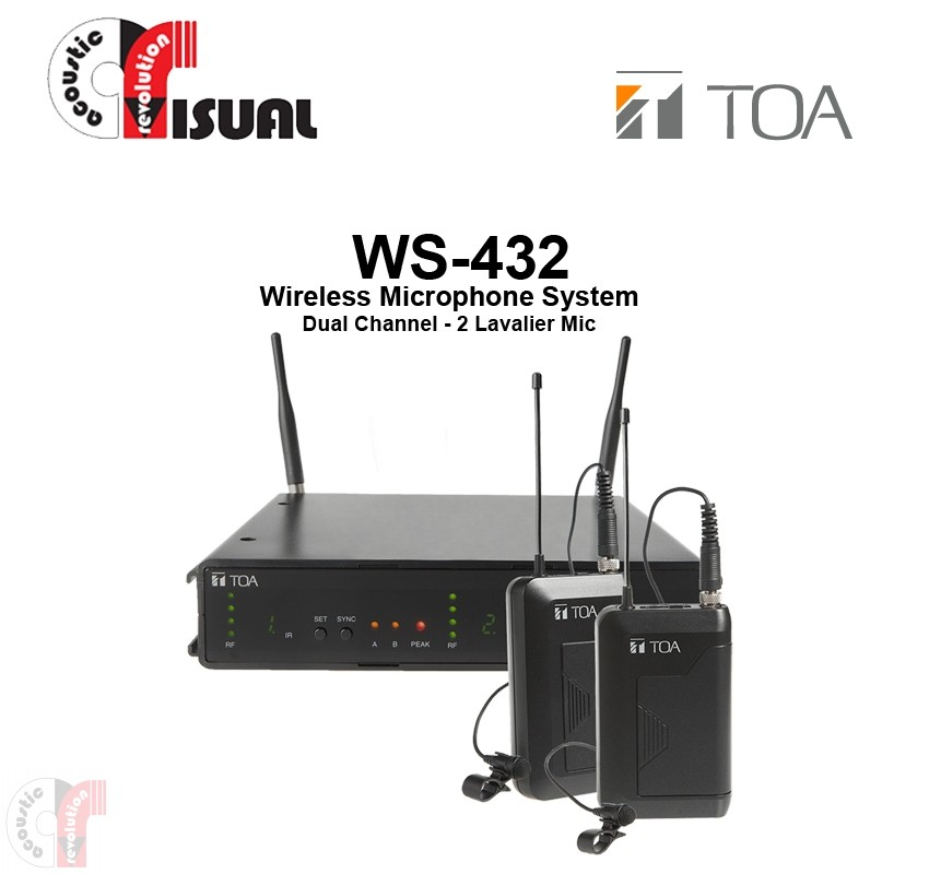 TOA Dual Channel Microphone System WS-432