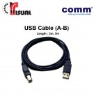 Comm USB Cable (Type A to Type B), 2m