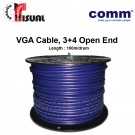 Comm VGA Cable, 3+4 Open End, 100m (Clearance)