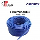 Comm VGA Cable, 5 Coil Open End, 100m (Clearance)
