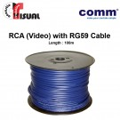 Comm RCA (Video) Cable with RG59 - 1 Core, 100m