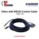 Comm Video with RS232 Control Cable, 30m