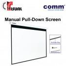 Comm Manual Pull-Down Wall Screen CP-MA84
