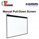 Comm Manual Pull-Down Wall Screen CP-MA70-43