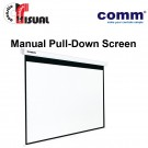 Comm Manual Pull-Down Wall Screen CP-MA84-43