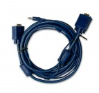Comm VGA Cable, Both Sides Molded with Audio, 15m