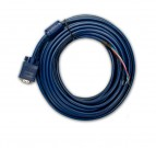 Comm VGA Cable, Molded to Open End (5 Coil), 20m